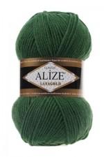 Пряжа Alize Lanagold (Ализе Лана Голд) Цвет 118 зеленый