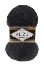 Пряжа Alize Lanagold (Ализе Лана Голд) Цвет 151 антрацит
