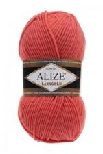 Пряжа Alize Lanagold (Ализе Лана Голд) Цвет 154 коралловый