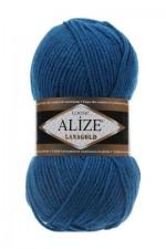 Пряжа Alize Lanagold (Ализе Лана Голд) Цвет 155 темная бирюза