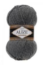 Пряжа Alize Lanagold (Ализе Лана Голд) Цвет 182 темно серый