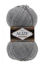 Пряжа Alize Lanagold (Ализе Лана Голд) Цвет 21 серый
