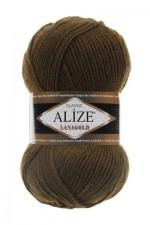 Пряжа Alize Lanagold (Ализе Лана Голд) Цвет 214 оливковый зеленый