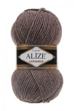 Пряжа Alize Lanagold (Ализе Лана Голд) Цвет 240 коричневый