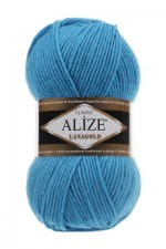 Пряжа Alize Lanagold (Ализе Лана Голд) Цвет 245 бирюзовый