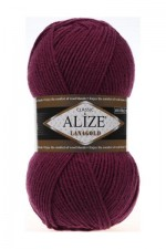 Пряжа Alize Lanagold (Ализе Лана Голд) Цвет 307 гнилая вишня