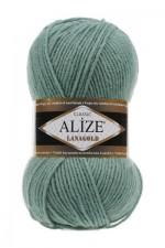 Пряжа Alize Lanagold (Ализе Лана Голд) Цвет 386 лазурный