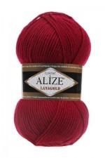 Пряжа Alize Lanagold (Ализе Лана Голд) Цвет 390 вишня