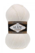 Пряжа для вязания Alize Lanagold Цвет 450 жемчуг