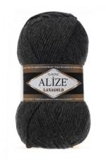 Пряжа Alize Lanagold (Ализе Лана Голд) Цвет 521 антрацит