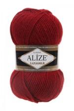 Пряжа Alize Lanagold (Ализе Лана Голд) Цвет 538 бордовый