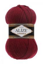 Пряжа Alize Lanagold (Ализе Лана Голд) Цвет 57 вишня