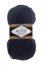 Пряжа Alize Lanagold (Ализе Лана Голд) Цвет 58 темно синий