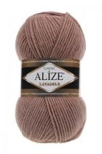 Пряжа Alize Lanagold (Ализе Лана Голд) Цвет 584 кофе с молоком