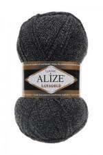Пряжа Alize Lanagold (Ализе Лана Голд) Цвет 600 серо черный