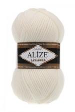 Пряжа Alize Lanagold (Ализе Лана Голд) Цвет 62 кремовый