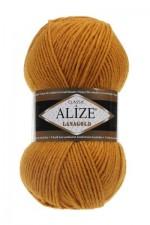 Пряжа Alize Lanagold (Ализе Лана Голд) Цвет 645 горчица