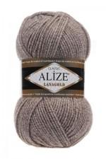 Пряжа Alize Lanagold (Ализе Лана Голд) Цвет 650 бежевый меланж