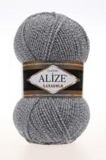 Пряжа Alize Lanagold (Ализе Лана Голд) Цвет 651 серый меланж
