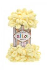 Пряжа для вязания Alize Puffy (Ализе Пуффи) Цвет 13 желтый