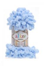 Пряжа для вязания Alize Puffy (Ализе Пуффи) Цвет 183 голубой