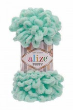 Пряжа для вязания Alize Puffy (Ализе Пуффи) Цвет 19 светло бирюзовый