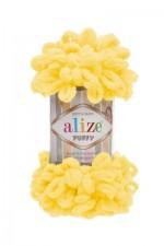 Пряжа для вязания Alize Puffy (Ализе Пуффи) Цвет 216 желтый