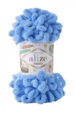 Пряжа для вязания Alize Puffy (Ализе Пуффи) Цвет 289 ярко голубой