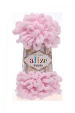 Пряжа для вязания Alize Puffy (Ализе Пуффи) Цвет 31 светло розовый