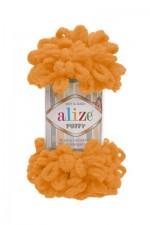 Пряжа для вязания Alize Puffy (Ализе Пуффи) Цвет 336 оранжевый
