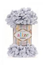 Пряжа для вязания Alize Puffy (Ализе Пуффи) Цвет 416 зимнее небо