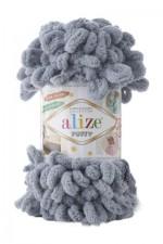 Пряжа для вязания Alize Puffy (Ализе Пуффи) Цвет 428 средне серый