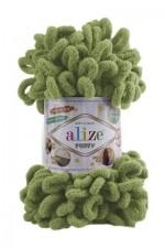 Пряжа для вязания Alize Puffy (Ализе Пуффи) Цвет 485 зеленый