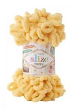 Пряжа для вязания Alize Puffy (Ализе Пуффи) Цвет 509 лимонный