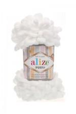 Пряжа для вязания Alize Puffy (Ализе Пуффи) Цвет 55 белый