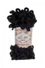 Пряжа для вязания Alize Puffy (Ализе Пуффи) Цвет 60 черный