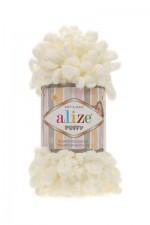 Пряжа для вязания Alize Puffy (Ализе Пуффи) Цвет 62 кремовый