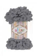 Пряжа для вязания Alize Puffy (Ализе Пуффи) Цвет 87 угольно серый
