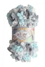 Пряжа для вязания Alize Puffy Fine Color (Ализе Пуффи Файн Колор) Цвет 5939