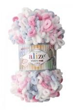 Пряжа для вязания Alize Puffy Fine Color (Ализе Пуффи Файн Колор) Цвет 5945