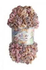 Пряжа для вязания Alize Puffy Fine Color (Ализе Пуффи Файн Колор) Цвет 6033