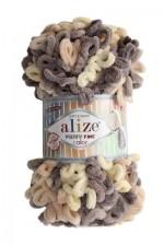 Пряжа для вязания Alize Puffy Fine Color (Ализе Пуффи Файн Колор) Цвет 6034