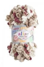 Пряжа для вязания Alize Puffy Fine Color (Ализе Пуффи Файн Колор) Цвет 6040