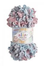 Пряжа для вязания Alize Puffy Fine Color (Ализе Пуффи Файн Колор) Цвет 6041