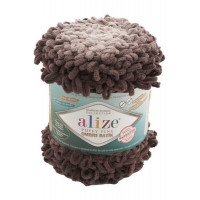 Пряжа для вязания Alize Puffy Fine Ombre Batik Цвет 7243