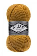 Пряжа для вязания Alize Superlana Maxi (Ализе Суперлана Макси) Цвет 02 шафран