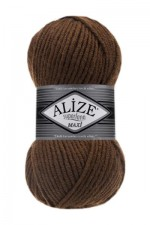 Пряжа для вязания Alize Superlana Maxi (Ализе Суперлана Макси) Цвет 137 табачный