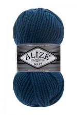 Пряжа для вязания Alize Superlana Maxi (Ализе Суперлана Макси) Цвет 155 темная бирюза