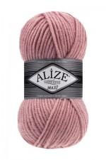 Пряжа для вязания Alize Superlana Maxi (Ализе Суперлана Макси) Цвет 161 пудра