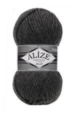 Пряжа для вязания Alize Superlana Maxi (Ализе Суперлана Макси) Цвет 196 темно серый